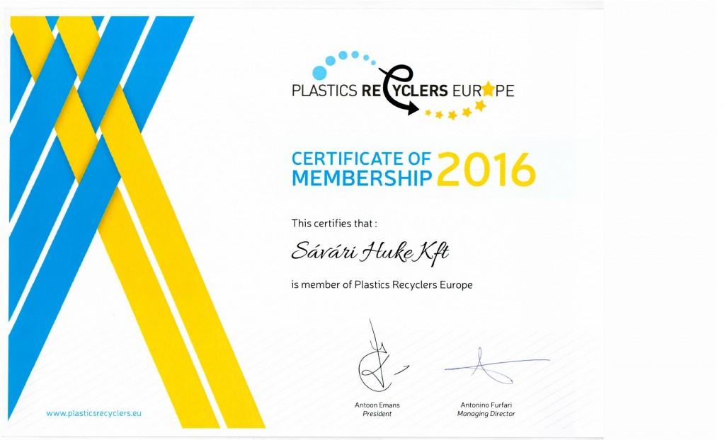 PRE Certificate 2016